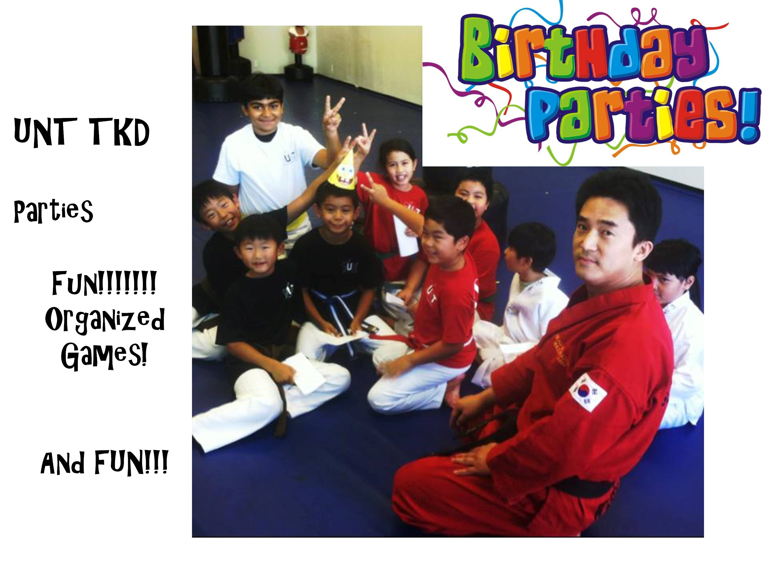 Birthday Parties - Saturday Afternoons!